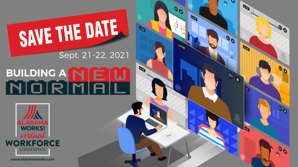 graphic for virtual workforce conference 2021 in September