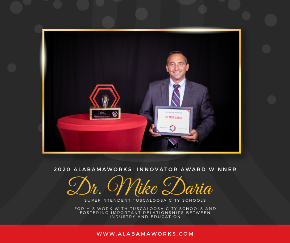 Doctor Mike Daria accepting award