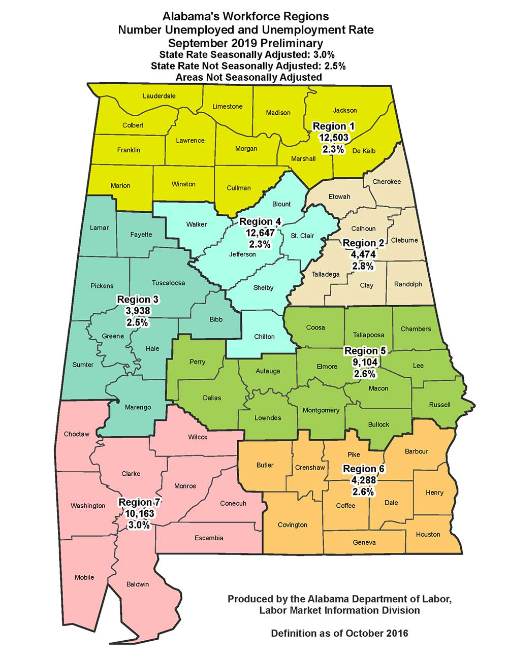 map of alabama unemployment numbers