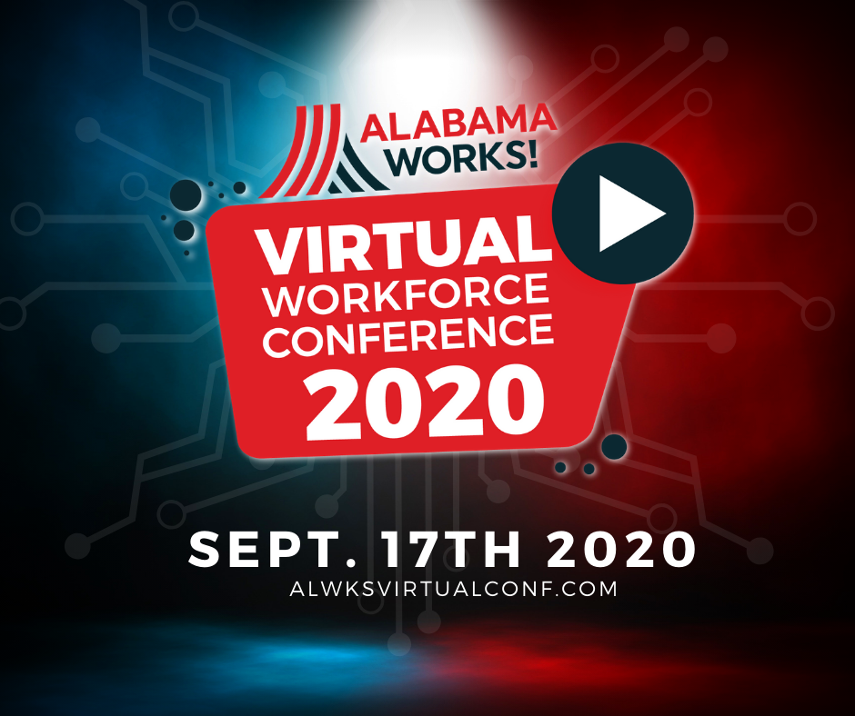 Banner ad for Alabama Works virtual conference