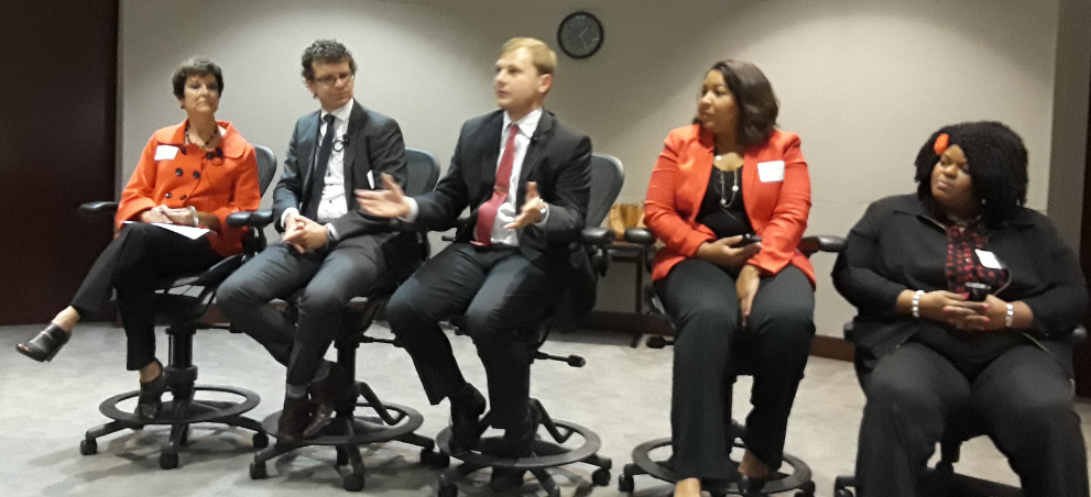 people speaking at central six workforce academy