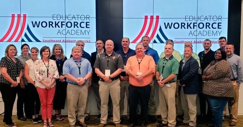 group image of educators at workforce academy