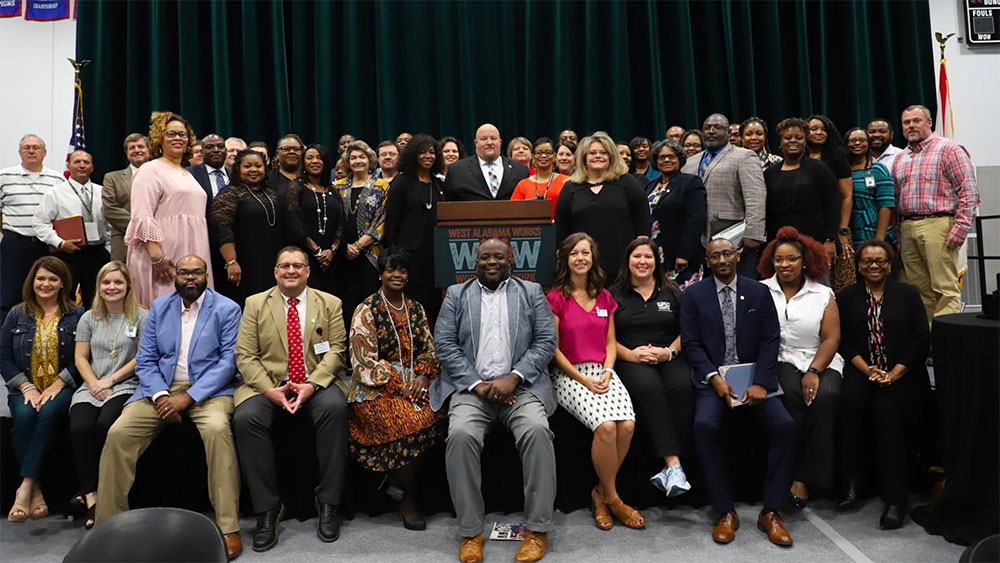 Graduates from educator workforce academy posing for picture