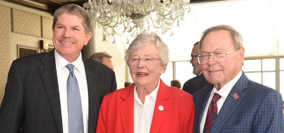 Governor Ivey poses for picture with Zeke Smith and George Clark