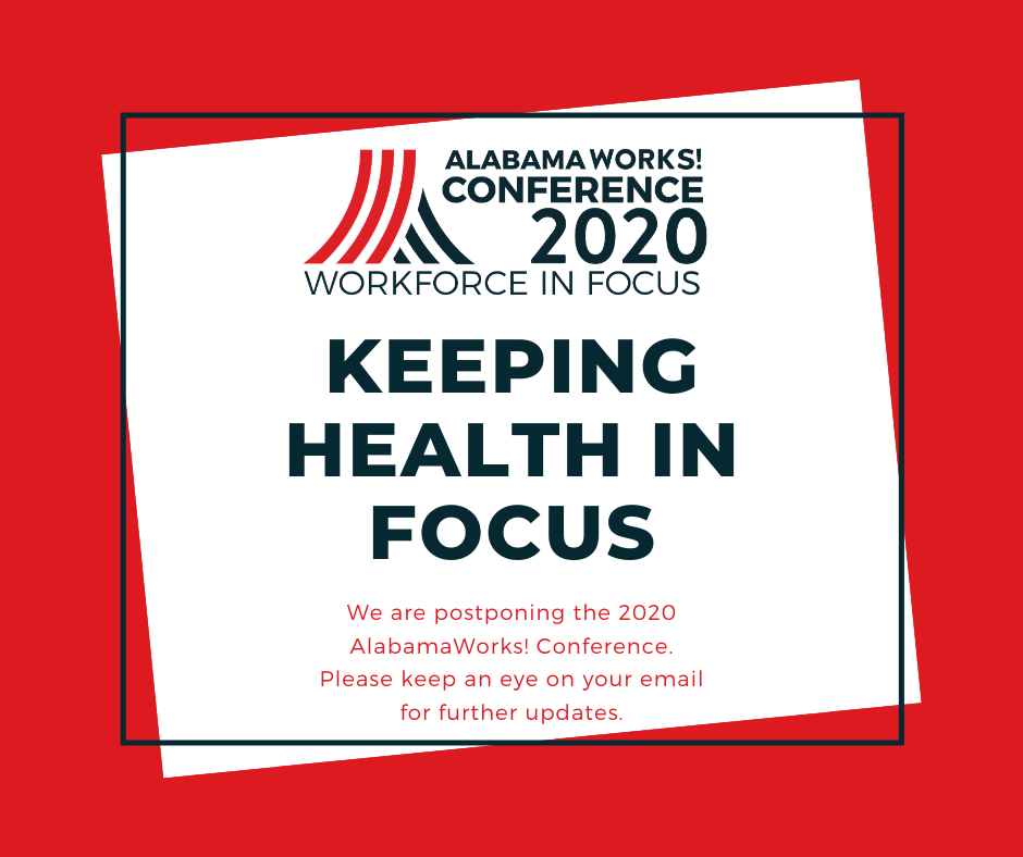 AlabamaWorks Conference 2020 postponed announcement